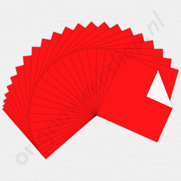 origami papier rood 15 x 15 cm de origami webshop. Black Bedroom Furniture Sets. Home Design Ideas