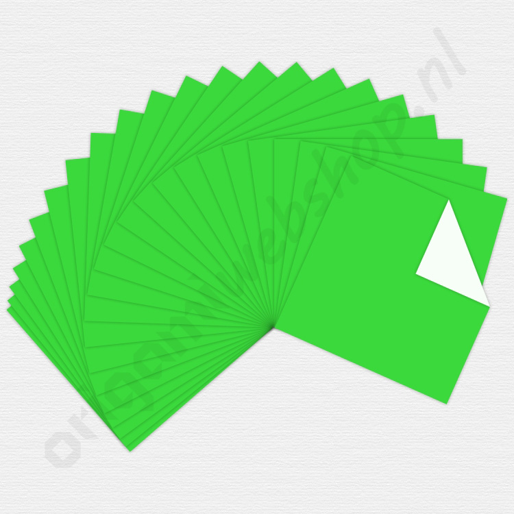 origami papier lichtgroen 15 x 15 cm de origami webshop. Black Bedroom Furniture Sets. Home Design Ideas