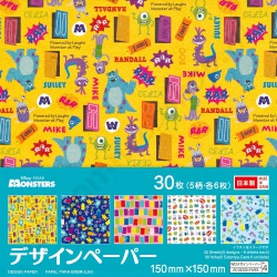 Origami Japanse Washi Disney Monsters 15 x 15 cm