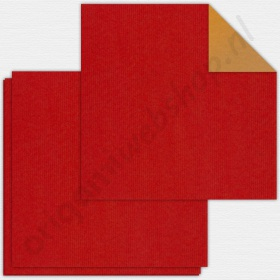 Origami Bascetta Ster Duo Papier Rood/Goud 15 x 15 cm
